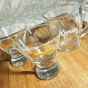 Kahlua Coffe Mug and 2 Short Glasses
